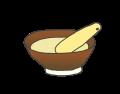 ブログ素材(すり鉢)