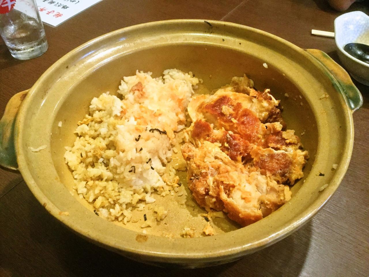 炭火やきとり萩(土鍋チキンカツ丼)