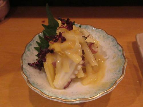 黄にらと蛸の酢味噌和え