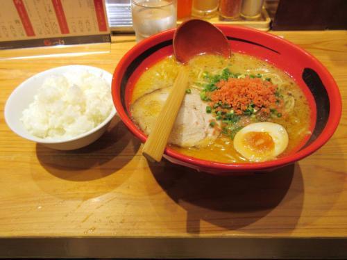 そのまま塩細麺とライス