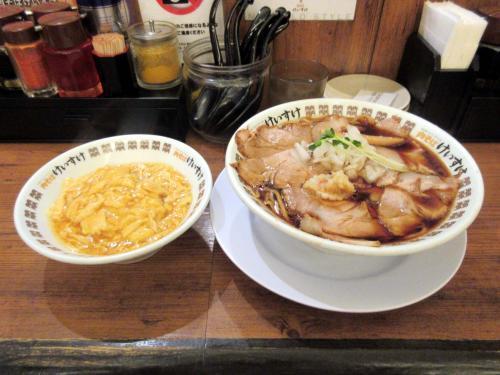 肉そば+選べる丼でエッグライス