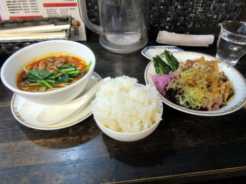 ハーフ坦々麺セット