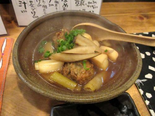 葱団子と根菜煮