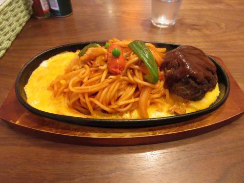 イタリアンスパゲティ+ハンバーグトッピング