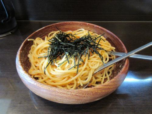 タラコとウニとイカのスパゲティ