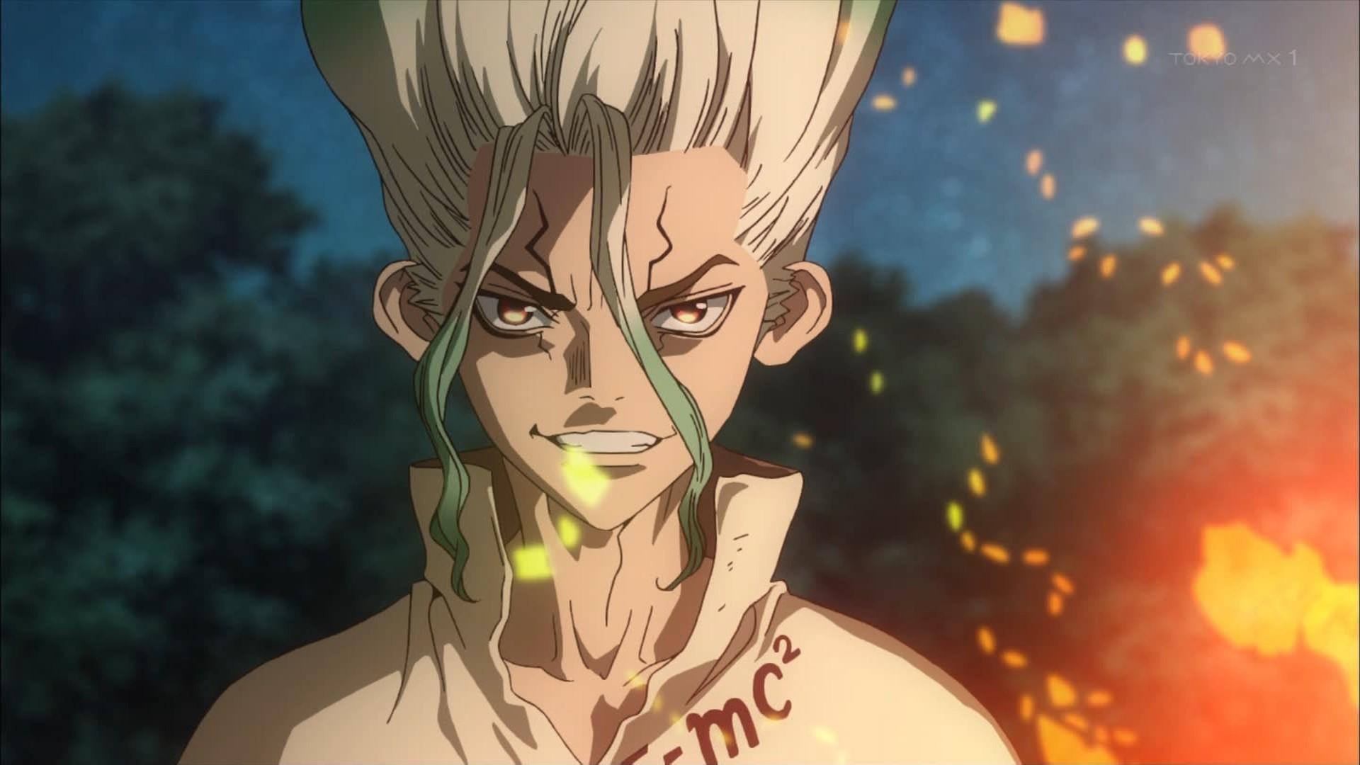 【新】夏アニメ『Dr.STONE』1話感想・・・ジャンプのなろう作品! 全人類が石化した世界でのサバイバル!! 科学で千空SUGEEEEEEEE!