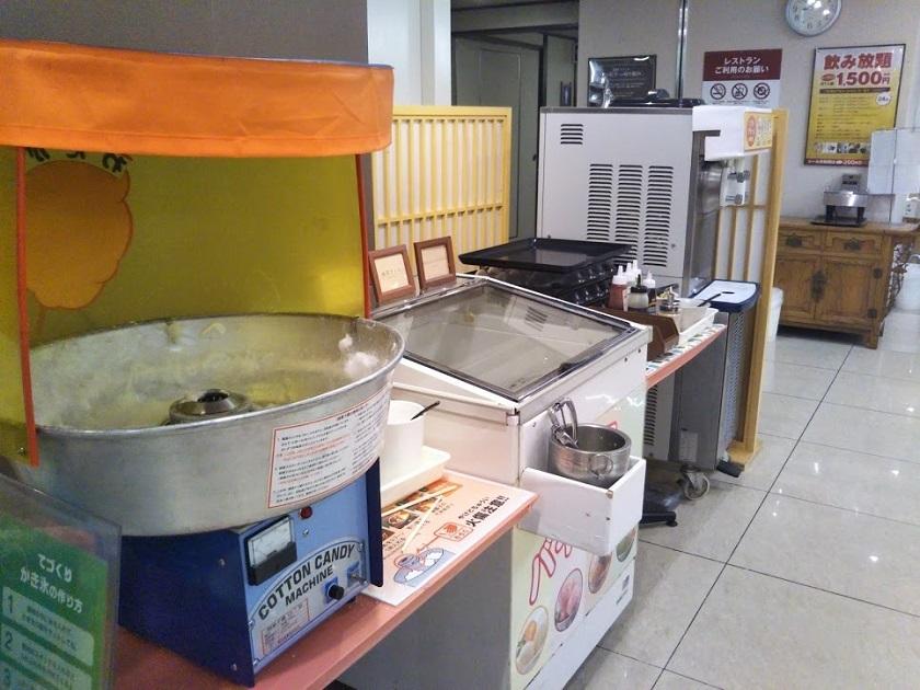 夕食バイキング 綿菓子マシン