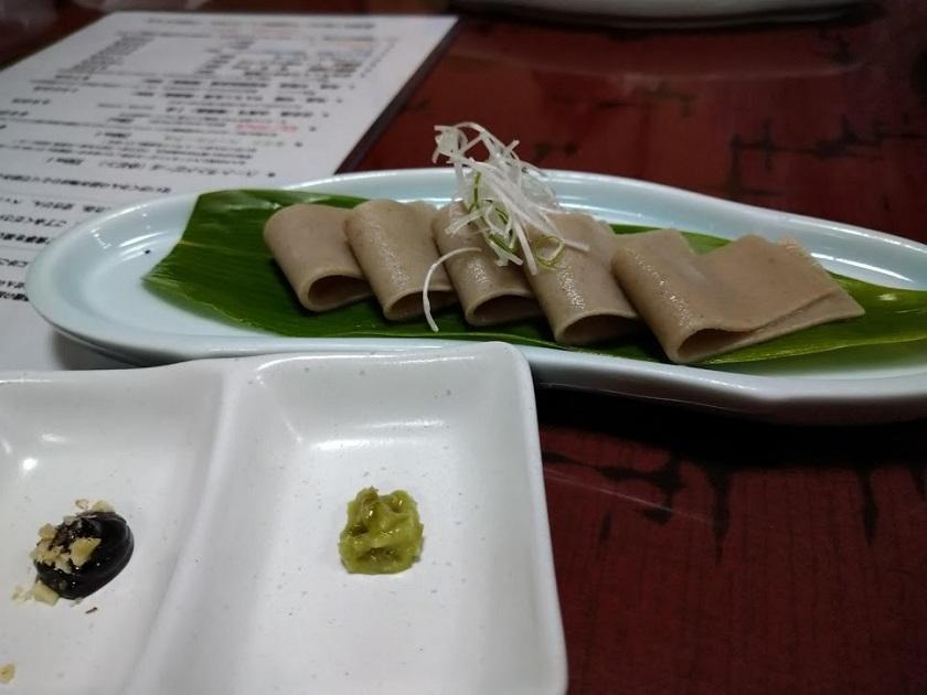 夕食_そばの刺身