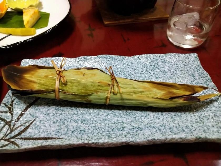 夕食_ニジマス山椒焼き
