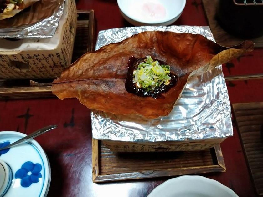 朝食_ほうば味噌