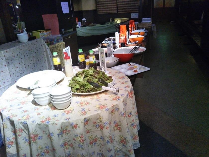 朝食バイキング サラダ、惣菜