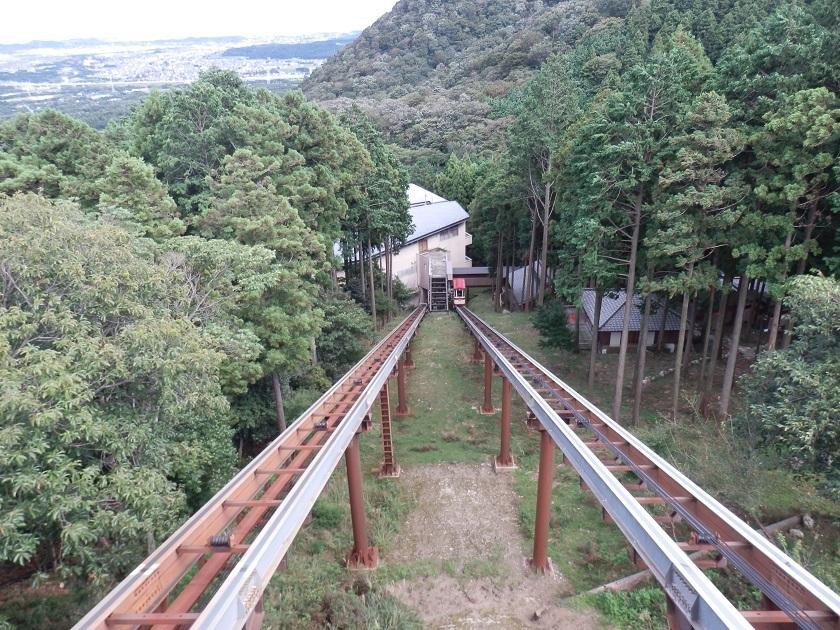 ケーブルカー 山上館より見下ろす
